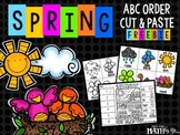 Spring ABC Order Cut and Paste Printable---FREEBIE