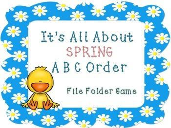 Spring ABC Order File Folder Activity