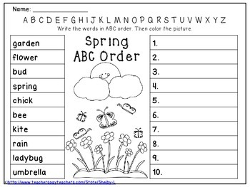 Spring ABC Order Practice