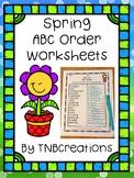 Spring ABC Order Worksheets