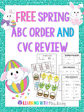 Spring ABC Order and CVC Review FREEBIE