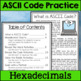 Spring ASCII Code STEM Activities