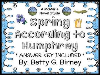 Spring According to Humphrey (Betty G. Birney) Novel Study (39 pages)