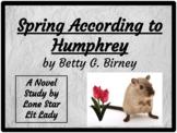 Spring According to Humphrey: Novel Study Response Book