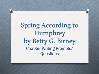 Spring According to Humphrey  - Student Packet