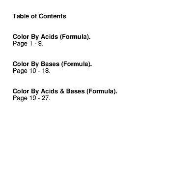Spring: Acids & Bases - Mystery Pictures