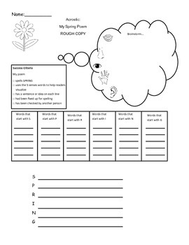 Spring Acrostic Planner