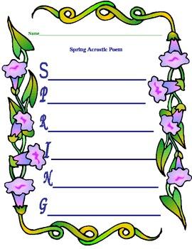 Spring Acrostic Poem