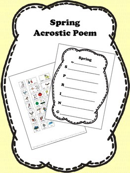 Spring Acrostic Poem Activity