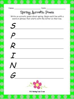 Spring Acrostic Poem {Poetry/Spring}