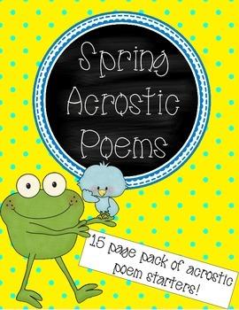 Spring Acrostic Poems Pack