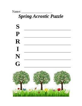 Spring Acrostic Puzzle