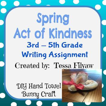 Spring Act of Kindness Writing Assignment