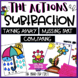 Actions of Subtraction > Spring- Take Away, Compare & Missing Part Word Problems