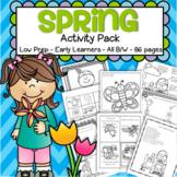 Spring Activities and Printables No Prep Preschool & Kindergarten 86 pages