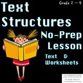 Text Structure Text structure passages main idea reading c