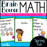 Spring Activities- Brain Bounce Math Game with Multiple Ob
