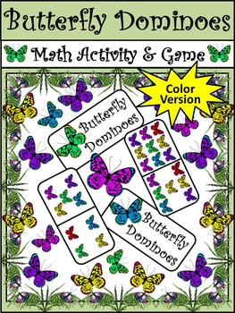 Spring Activities: Butterfly Dominoes Spring Math Activity PAcket