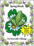 Spring Spelling Activities: Spring Words Flash-card Set Activity Packet