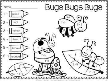 Spring Activities: Spring Math and Language Activities for Kindergarten