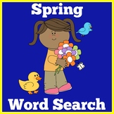 Spring Word Search | Spring Word Find | Spring Activity