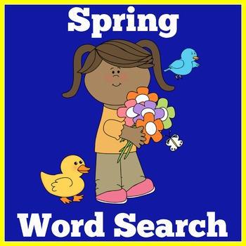 Spring Word Search   Spring Word Find   Spring Activity