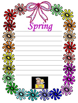 Spring Activities - Spring - Clipart - Frames - Writing pa