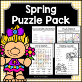 Spring Activities - Math & Literacy Puzzles | Early Finishers