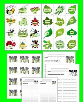 Spring Activities:  Antonyms