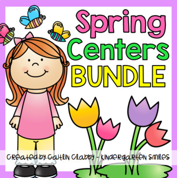 Spring Activities BUNDLE (Math and Literacy Centers)