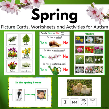 Spring Activities BUNDLE for Speech Therapy and Autism