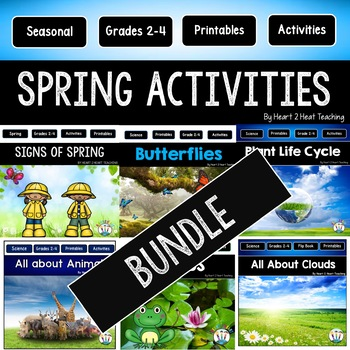 Spring Activities Bundle: Spring, Butterflies, Clouds, Frogs & Plant Life Cycle