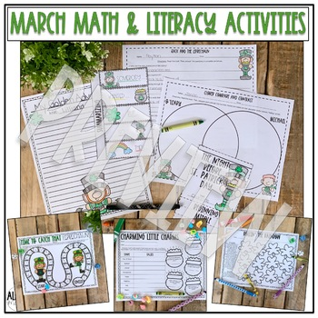 Spring Activities Bundle Math and Literacy for March