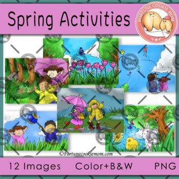 Spring Activities' Clip Art