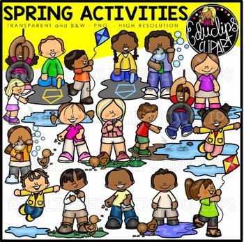 Spring Activities Clip Art Bundle {Educlips Clipart}