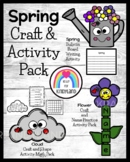Spring Weather Craft Activities: Names, Shapes, Writing, Bulletin Boards