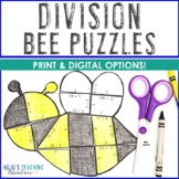 DIVISION Bee Puzzles | Spring Math Games | Spring Math Centers | Bee Math