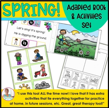 Spring Adapted Book & Activities: Verbs, Pronouns and Sentences