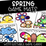 Spring Activities | Editable Content Game Mats