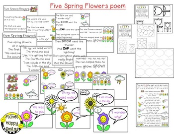 Spring Activities  ~ Flowers, Flowers, Everywhere: Poetry, Reading and Writing