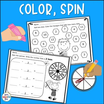 Spring Activities - Addition Subtraction Fact Fluency Worksheets