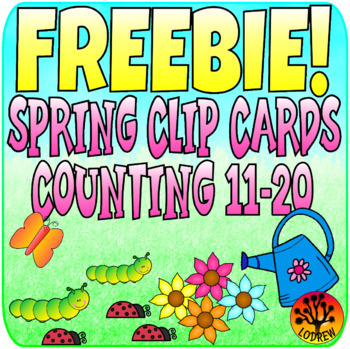 Spring Activities Free Clip Cards Counting 11-20 Spring Centers Math Fine Motor