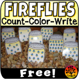Bug Centers Spring Activities Free Firefly Count and Color 0-20 Insects Counting