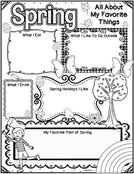 Spring Activities Freebie, Writing Activity, Reflection