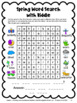 Spring Activities Freebie: Spring Math Games, Spring Writing, Spring Word Search