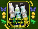 Spring Activities {Frog Butterfly and Chicken Life Cycle Wind Socks}
