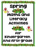 Spring Activities Kindergarten & First Grade (Literacy & Math)