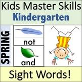 Spring Sight Words - Kindergarten