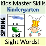 Spring Sight Words - Hands-On Activities (100 Sight Words)