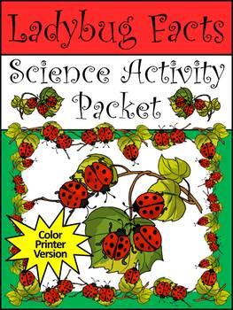 Spring Activities: Ladybug Facts & Ladybug Dominoes Activity Packet Bundle